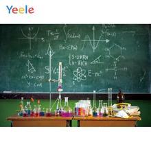 Yeele Back to School Blackboard Chemical Classroom Photography Backgrounds Photographic Customized Backdrops for Photo Studio