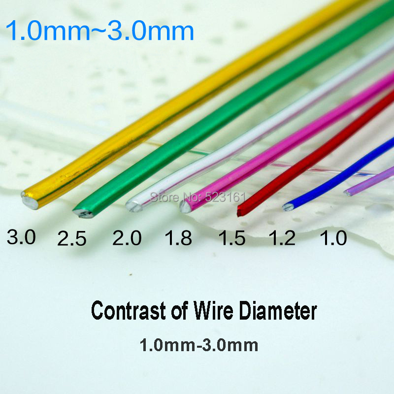 2017 New Color Al anodized aluminum craft wire 2.5mm round 10 ...