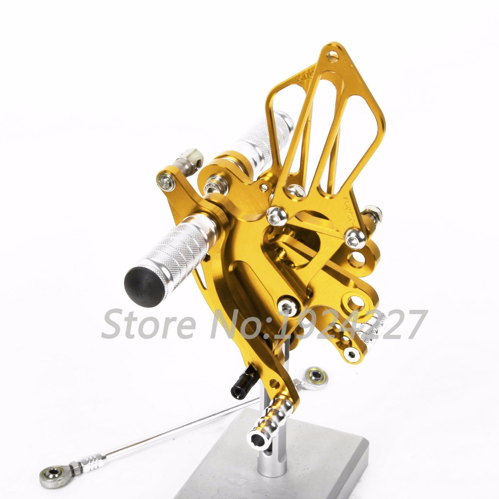 For Yamaha YZF-R1	2007-2008 CNC Foot Pegs Rearsets Rear Sets Brake Shift Motorcycle 8 Color  Hot Sale High-quality free shipping motorcycle parts silver cnc rearsets foot pegs rear set for yamaha yzf r6 2006 2010 2007 2008 motorcycle foot pegs
