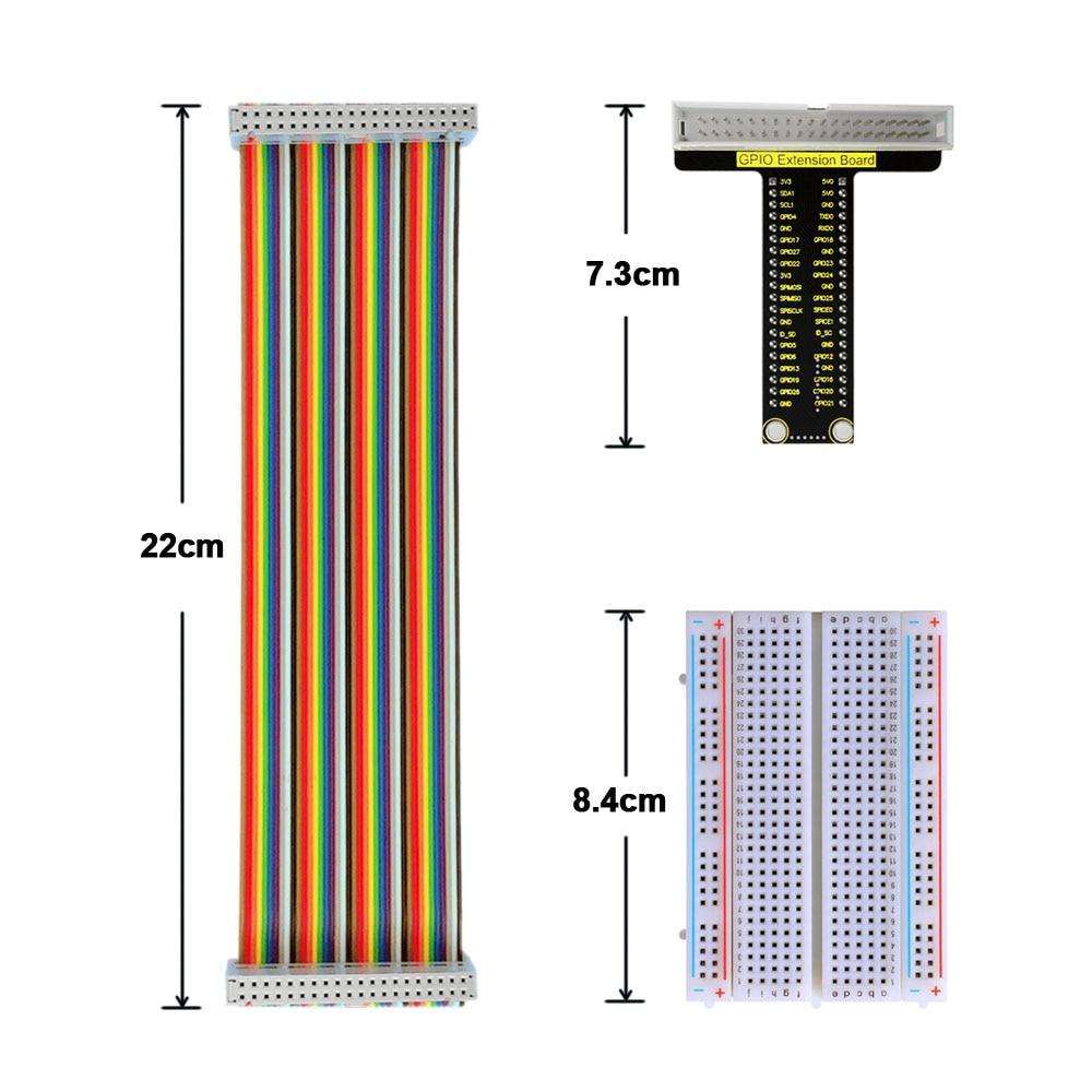 Free Shipping!  Raspberry Pi V1 Board+40P Colorful Ribbon Cable+400-hole Breadboard