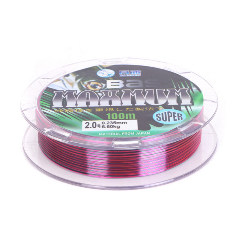 100 M Super Strong Fishing Line Japan Monofilament Nylon Fishing Line size 1.5 2.0 2.5 3.0 3.5 4.0 4.5 5.0 6.0 7.0 8.0