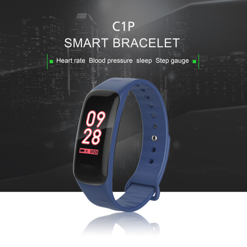 TREZER C1P Fitness Bracelet Heart Rate Monitor Color Screen Blood Pressure Measurement Smart Wristband for IOS Android Phone (1)