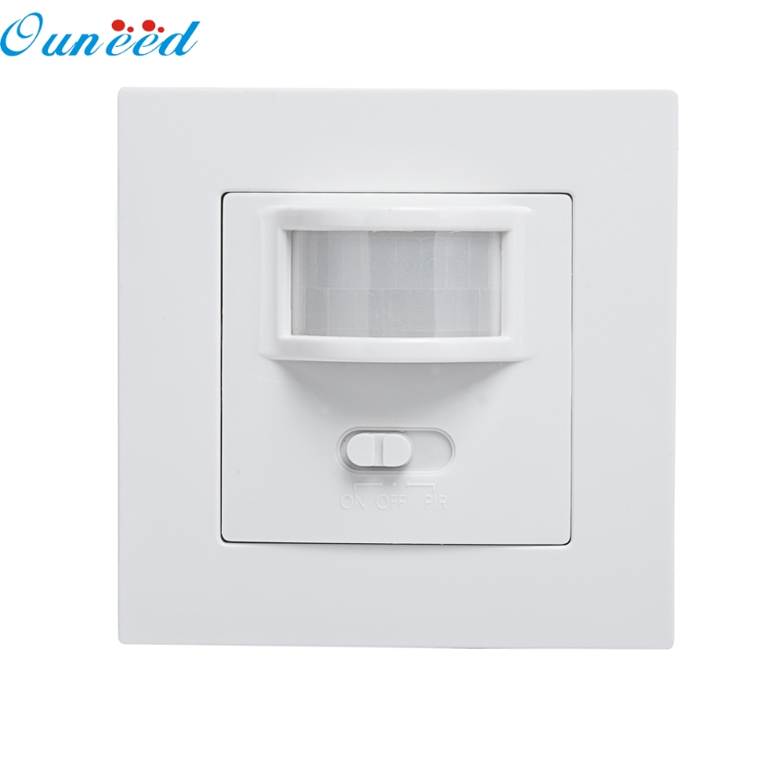 Ouneed Creative AC 220V 160 Degree Infrared PIR Motion Sensor Recessed Wall Lamp Bulb Switch Happy Gifts High Quality high quality wall mounted pir motion sensor light switch max 600w load 9m max distance 1pc gs45