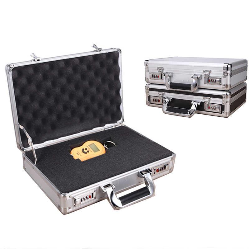 Aluminium Koffer Draagbare Veiligheid Apparatuur Instrument Toolbox slagvast Gereedschapskist Bestand Doos met Slot en Schuim