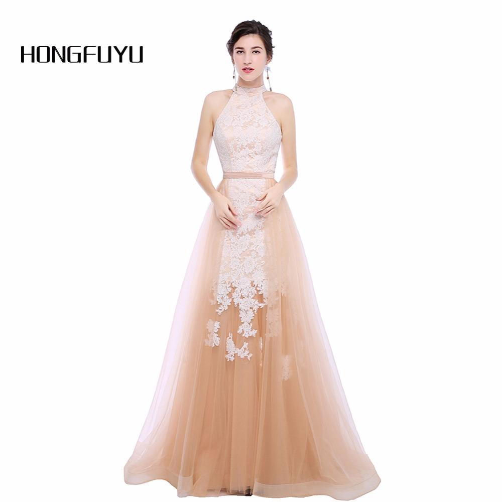высокое качество холтер ТЛ приложений вечерние платья без рукавов 2018 семь поезд пол длина вечернее платье hfy110202