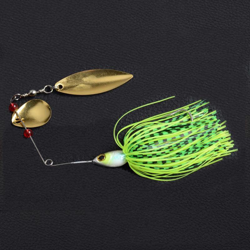 1Pcs19.5G Spinnerbait Jig Logam Umpan Spinner Sendok Bass Umpan Payet Memancing Umpan Pike wobbler Memancing Ikan Mas Hook