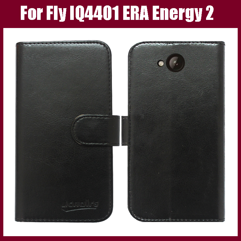 Fly IQ4401 ERA Energy 2 Case,High Quality Flip Leather Phone Case Cover For Fly IQ4401 Phone Case with card holder Free Shipping