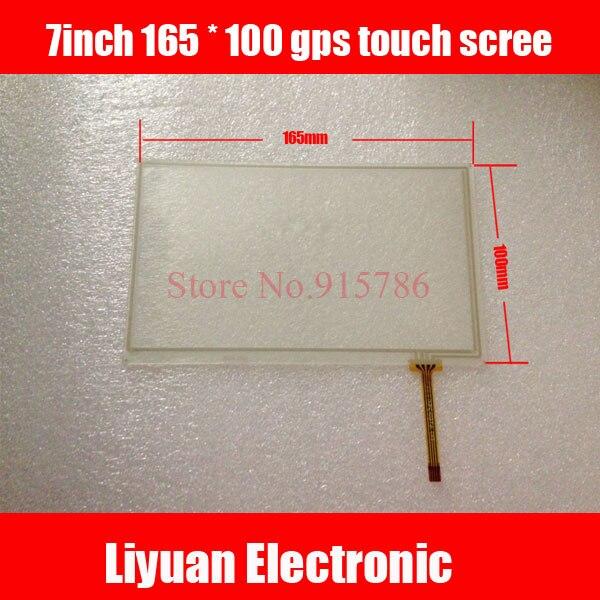 7 Дюймов 165*100 gps сенсорный экран/с резистивным сенсорным экраном с украшением сбоку/7 дюймов резистивный сенсорный экран