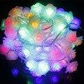 10 M Led natal luzes cordas 100 pcs Rose flor fada luzes cordas para festa de natal decoração dia dos namorados casamento
