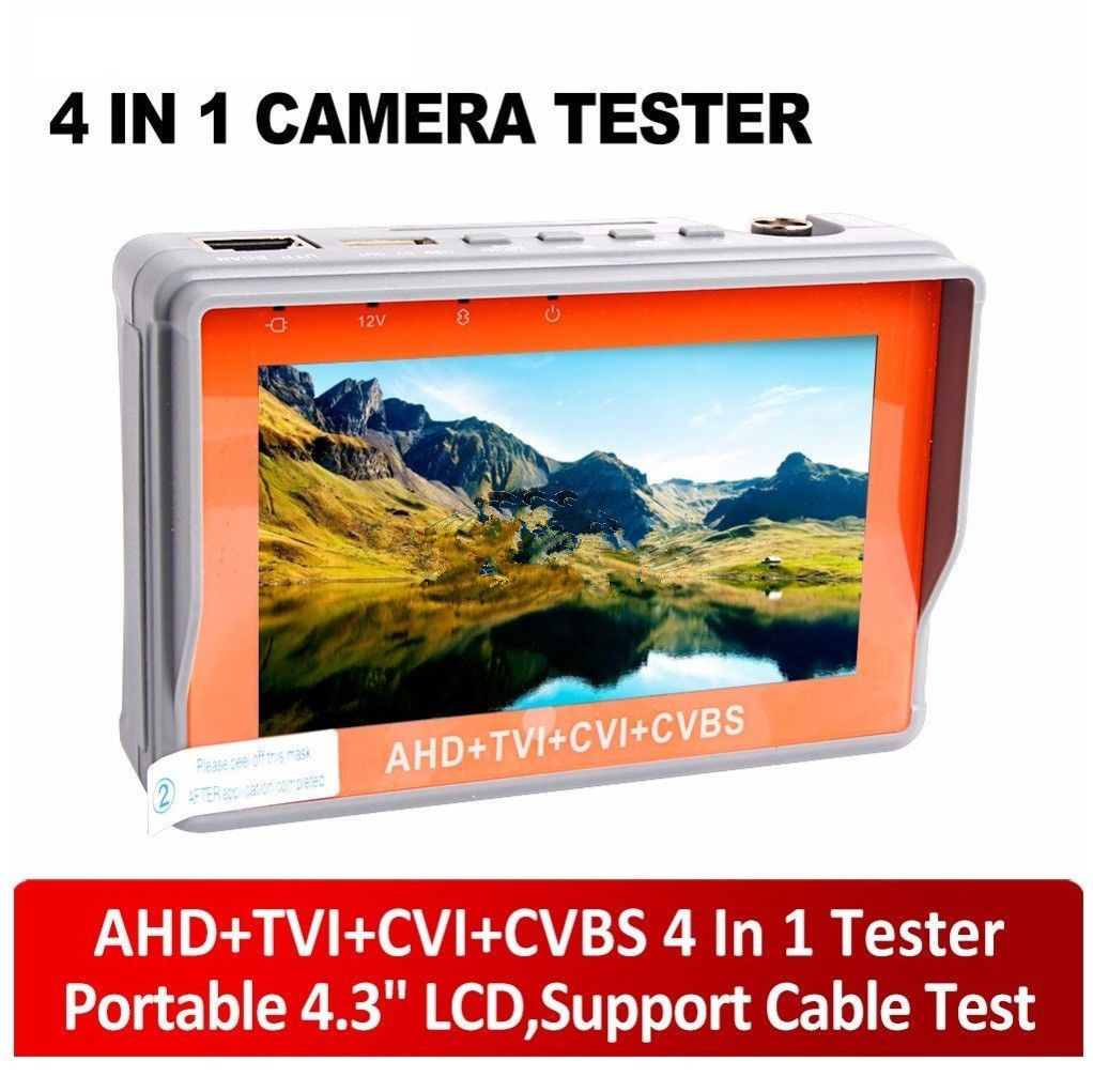 Portable1080P CVI+AHD+TVI+CVBS Analog CCTV Camera Tester DC12 Power Output Test Monitor Tester,5V/12V Power Output,Cable Test 4 in 1 ir high speed dome camera ahd tvi cvi cvbs 1080p output ir night vision 150m ptz dome camera with wiper