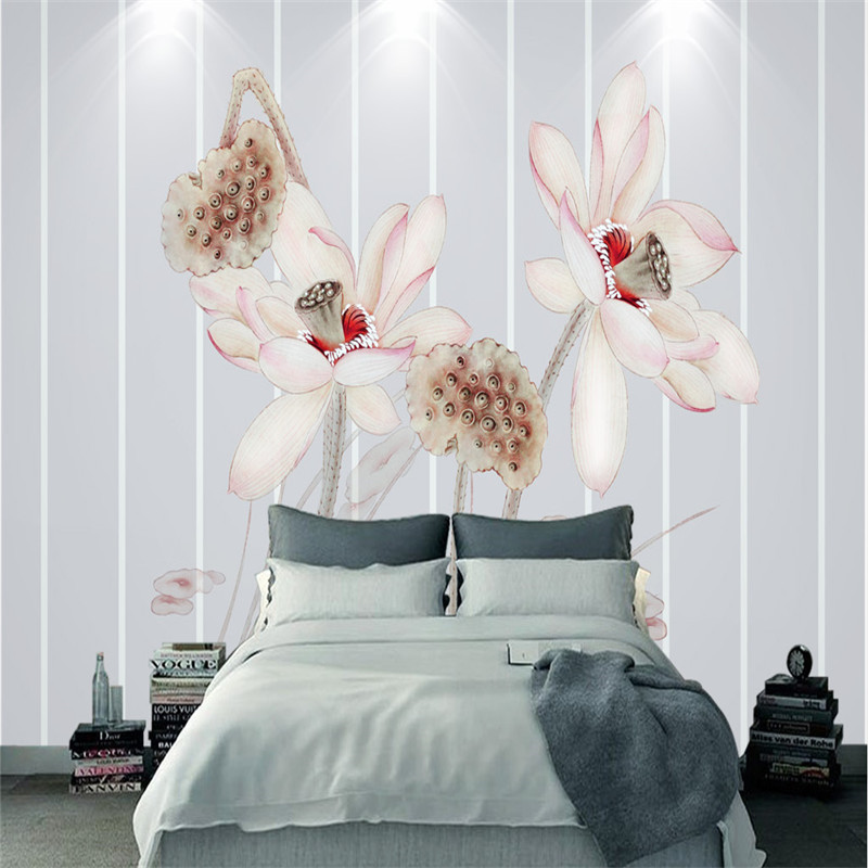 3D Stereoscopic Wallpapers for Living Room Home Decor Chinese Wall Papers Flowers Tree Photo Murals Bedroom Walls 3D Painting custom photo wallpapers for walls 3d modern non woven wall papers mural for bedroom living room home decor flowers oil painting