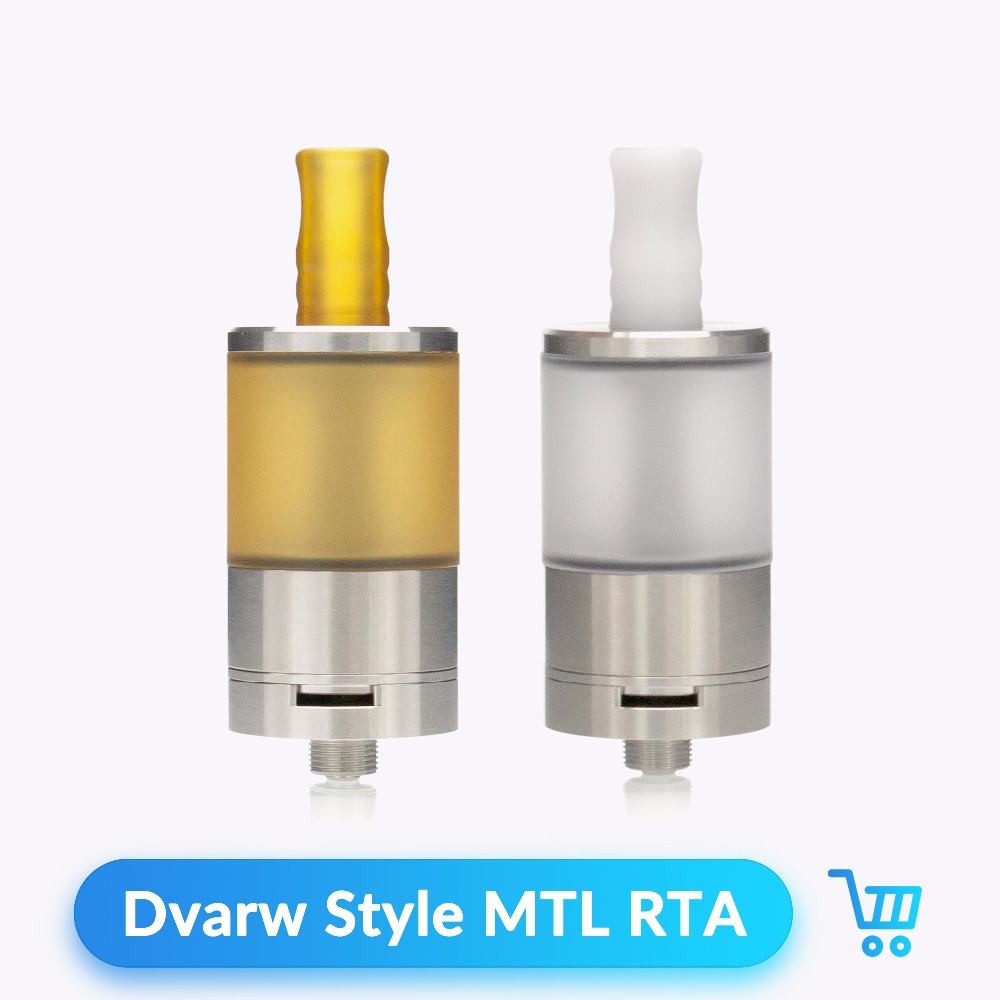 Volcanee Dvarw Style MTL RTA Atomizer Rebuildable 5ml Capacity with 510 Teflon Drip Tip for E Cigararette Box Mod Vape Tank volcanee v2 rta single