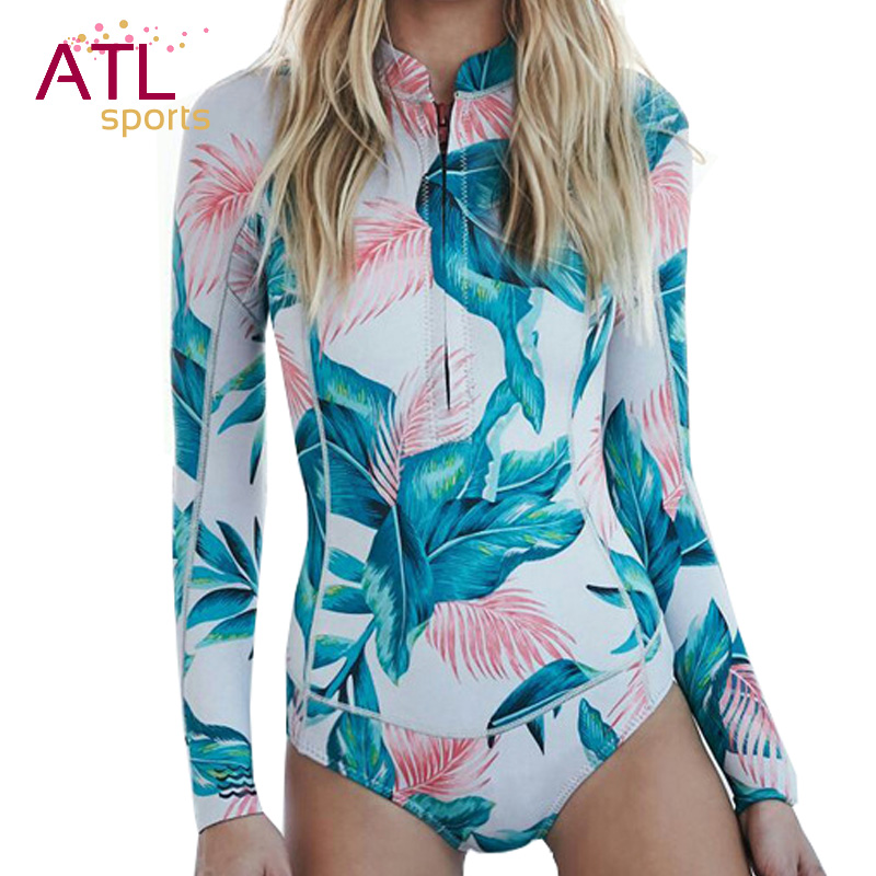 One-piece Suit Long Sleeve Swimwear Female 2016 One Piece Swimsuit Women Bathing Suit Surf Rash Guard Beach Clothes Rashguard one
