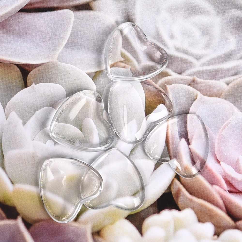 Corazón transparente cabujón de cristal transparente para hacer joyería DIY hecho a mano colgantes accesorios 8mm 10mm 12mm 16mm 18mm, 25mm, 30mm