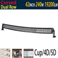 240W 42 Curved LED Light Bar 5D 4D Reflect Light Cup Inch With Cree For Driving