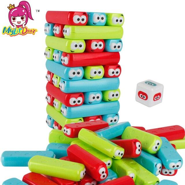 Bloques De Construccion De Plastico Apiladores De Juegos De Torre