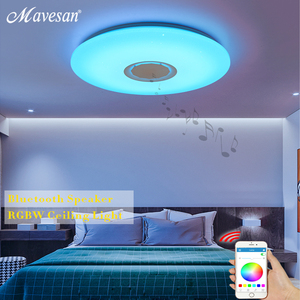 Image 3 - מוסיקה LED תקרת אורות RGB APP ושלט רחוק תקרת מנורת שינה 25W 36W 52W סלון אור lampara דה techo