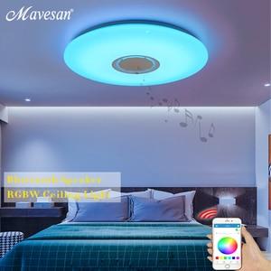 Image 3 - Музыкальный светодиодный потолочный светильник s RGB APP и дистанционное управление потолочный светильник для спальни 25 Вт 36 Вт 52 Вт лампа для гостиной