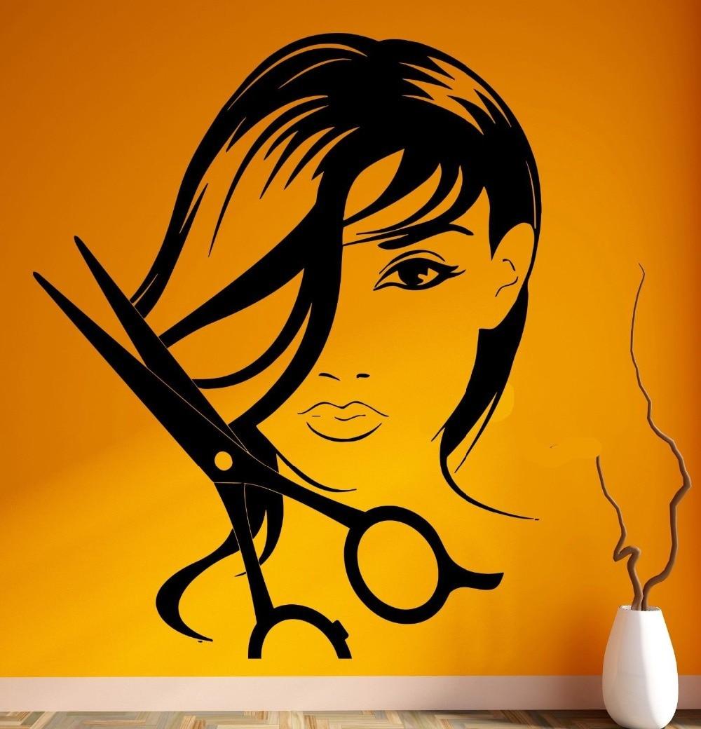 Online Shop Wall Stickers Vinyl Beauty Hair Spa Salon Barbershop ...