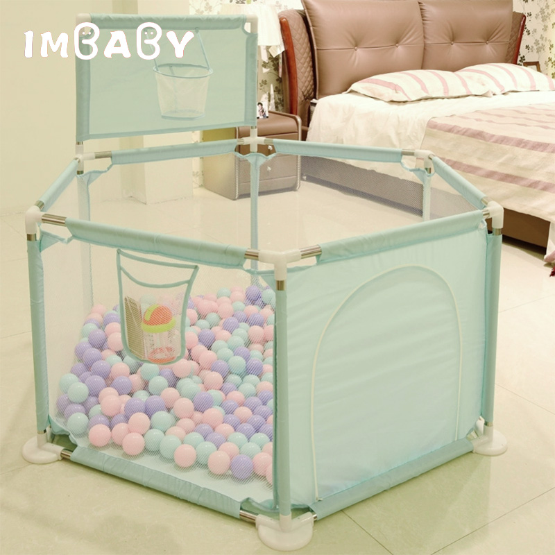 IMBABY Baby Ball Pool Dry Pool With Balls Pits With Basket Tent For Kids Children Pool Balls Baby Playpen Babies Playground