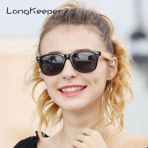 Image 2 - LongKeeper 50 יח\חבילה מותאם אישית לוגו מקוטב משקפי שמש נשים גברים עץ במבוק אמיתי עץ זרועות שמש משקפיים מראה Gafas