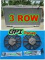 Алюминиевый Радиатор и вентилятор для Nissan PATROL Y61 ГУ TD 4.2L Diesel 97-01 98 99 00 MT
