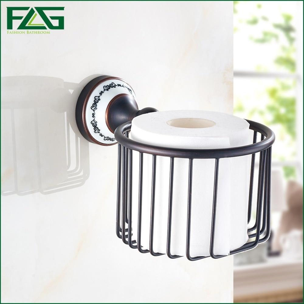 ▻FLG European Style Luxury Oil Rubbed Porcelain Toilet Paper Holder ...
