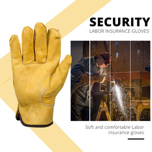 Image 3 - OZERO New Mens Work Gloves Cowhide Driver Security Protection Wear Safety Workers Welding Moto Gloves For Men 1008