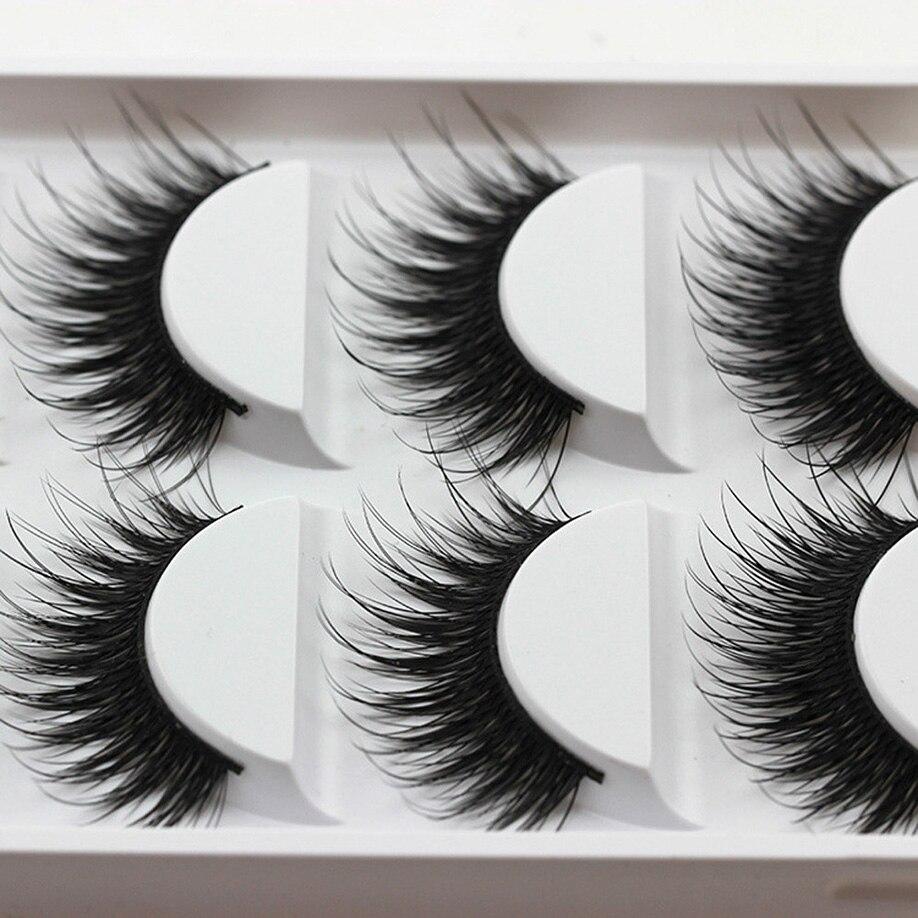 MAANGE Full Size Eye Lashes 5 Pairs Thick False Fake Eyelashes Eye Lashes Makeup Extension Professional Black