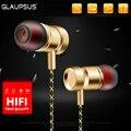 GLAUPSUS GJ01 In-Ear 3.5mm Super Bass Microphone Earphones Earplug Stereo Metal HIFI In Ear Headphone for iPhone Mobile Phone