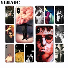 Liam Gallagher Singer Soft TPU Silicone Case for Apple Iphone Xr Xs Max X 10 8 Plus 7 6S 6 Plus SE 5S 5 7Plus 8Plus Cover liam gallagher amsterdam