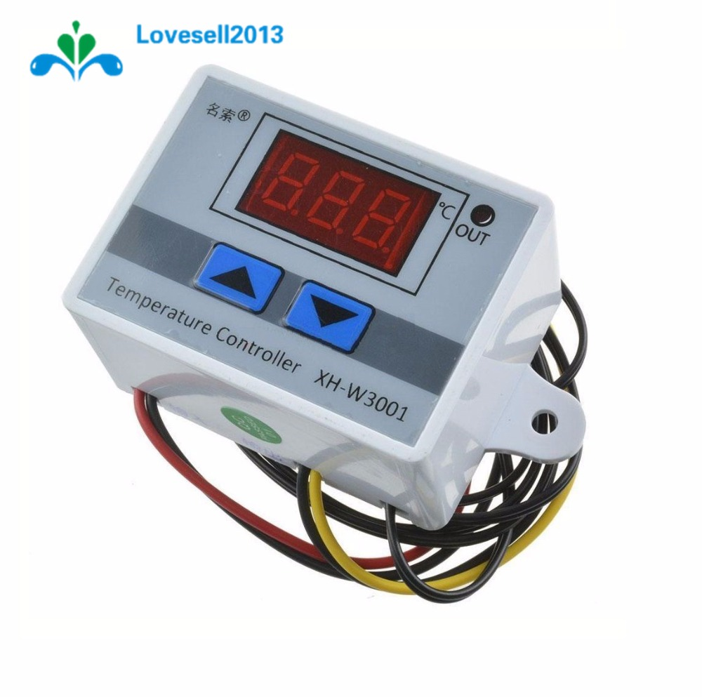 220V 10A Digital LED Temperature Controller XH-W3001 For Arduino Cooling Heating Switch Thermostat + NTC Sensor