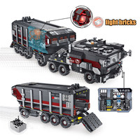 New 2105pcs the wandering the earth truck film fit legoings swat military figures building blocks bricks kids toys boy gift