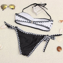 Women Bikini Bandage Push Up White and Black
