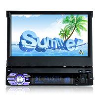 7'' HD Car Mp4 Mp5 Player Stereo FM Transmitter Digital Display Retractable Screen Car Audio Radio High quality