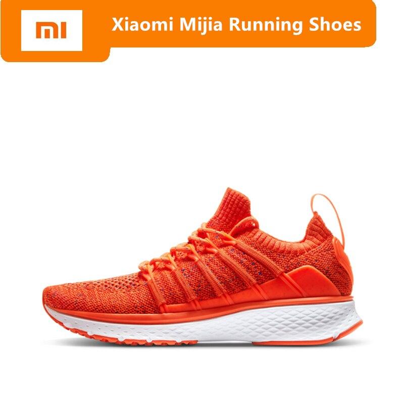 Original Xiaomi Mijia Women Sports Shoes Outdoor Mi 2 Smart Sneakers Elastic Knitting Vamp Smart Female Running Shoes