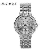 snowshine #10xin   Fashion Exquisite Luxury Crystal Quartz Rhinestone Crystal Wrist Watch  free shipping