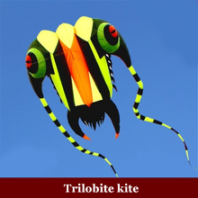 Free DHL 1PC 7 sqm Trilobite Kite Outdoor Sport Dolphins Kites Easy to Fly Frameless flying toys, soft kite, show kite, Lifter