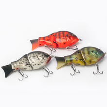 1pc Wood Hard Fishing Lure Peche Lifelike Hard Fishing Lures 95g14cm Pesca 2 Segment Swimbait Crankbait Hard Fishing Tackle Hook