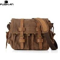 FUSHAN High Quality Men Canvas Bag Casual Travel Men S Crossbody Bag Luxury Men Messenger Bags