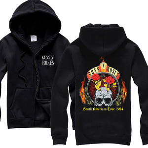 Image 5 - 26 Ontwerpen Guns N Roses Sweatshirt Gnr Katoen Rock Rits Hoodies Shell Jas Guns N Roses Punk Hardrock Heavy Metal sudadera