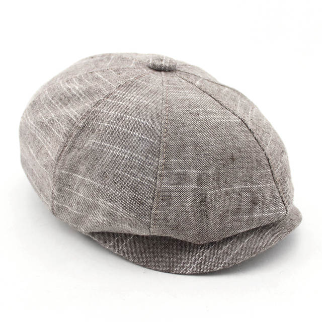 ab887ddf4 BFDADI Adult Popular Newsboy Cap Spring And Summer Linen Octagonal Cap  Tidal Outdoor Fashion Hats Free Shipping