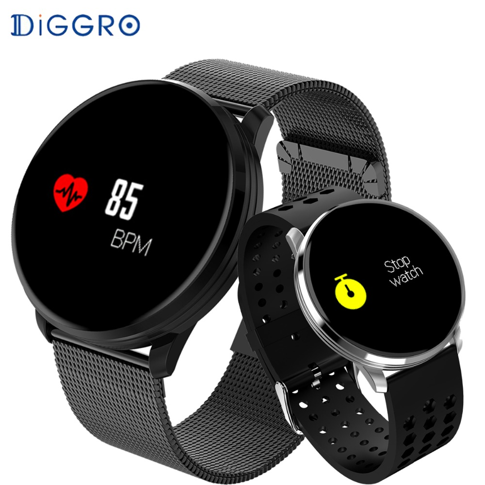 Diggro M9 Color Screen Smart Bracelet Waterproof Heart Rate Blood Pressure Activity Fitness Track Bluetooth Smart Band PK Q8 L5