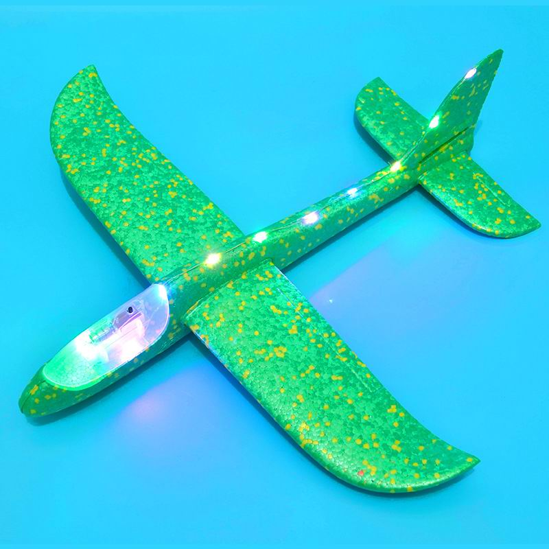 SAILEROAD 48cm LED Hand Launch Throwing Airplane Glider Aircraft Inertial Foam Toy Children Plane Model Outdoor for Kid Games