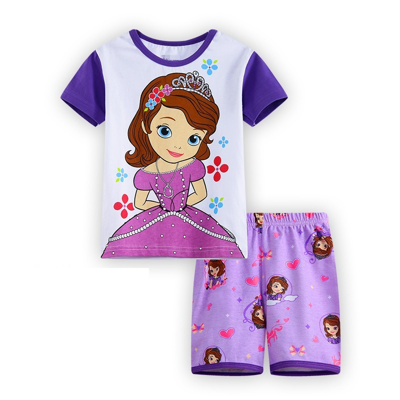 Summer Kid pyjama Infant home clothes tee shirts Girls Pajamas Suit Frog Children Clothing Sets Baby Girl Clothing pijamas mother nest 3sets lot wholesale autumn toddle girl long sleeve baby clothing one piece boys baby pajamas infant clothes rompers