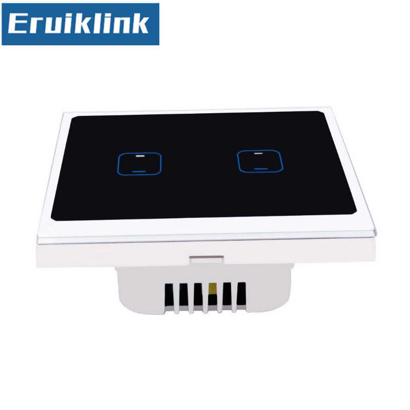 EU/UK Стандартный приложение eWelink дистанционного Управление сенсорный выключатель, 1/2/3/4 gang Wi-Fi выключатель света через Android/IOS смарт настенный выключатель