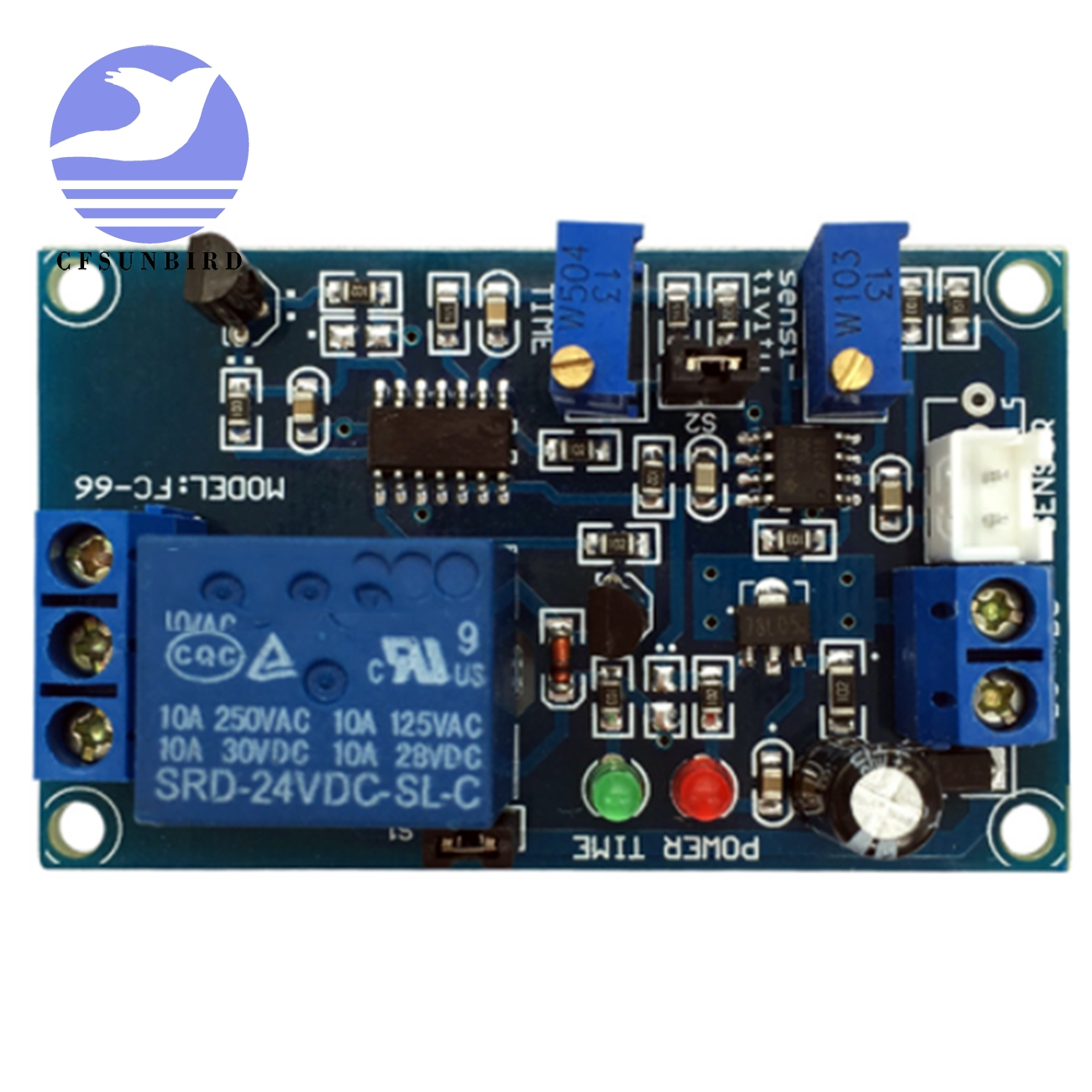 Cfsunbird 12v Photoresistor Relay Module Light Brightness Sensor Wiring A 24vdc Timer Detection Controller Switch On Off With Wires For Car In Integrated Circuits From
