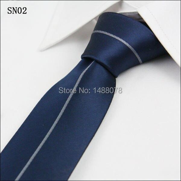 Navy Striped Gray Ties 2M8-6
