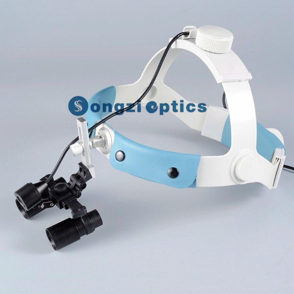 4X Headband Kepler Binocular Medical Surgical Loupes LED Headlight for Brain Surgery Vascular anastomosis operation Others