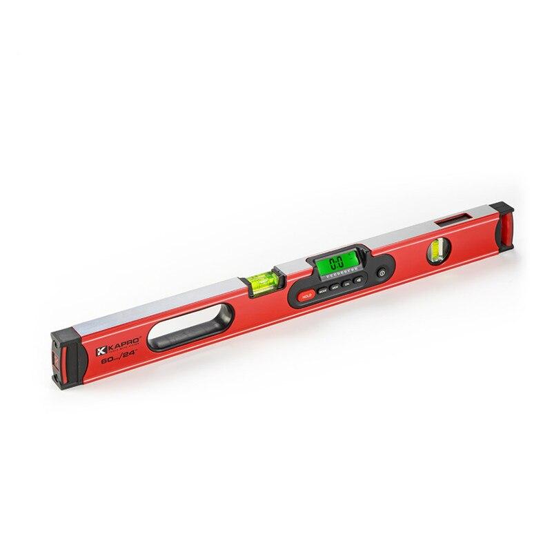 KAPRO Nível Magnético Digital de Alta Precisão Profissional Ferramenta De Medição Régua Muliti-função 180 Graus Display LCD Backlight